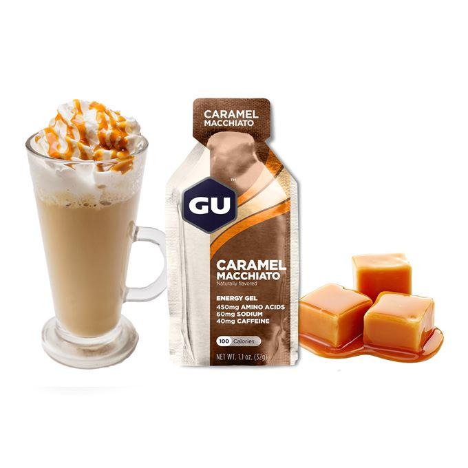 GU Energy Gel 32 g Caramel Macchiato 1 SÁČEK (balení 24ks)