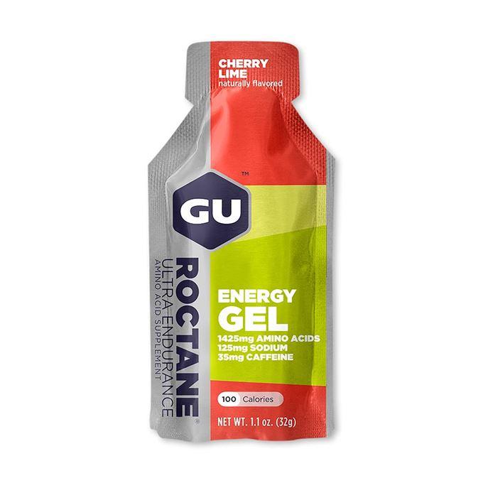 Výprodej-GU Roctane Energy Gel 32 g-cherry/lime AKCE EXP 11/20