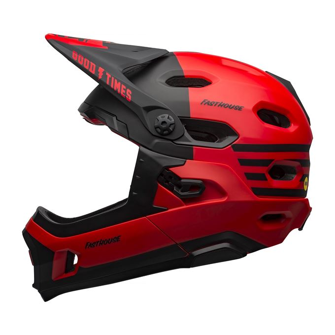 BELL Super DH MIPS Mat/Glos Red/Black Fasthouse L