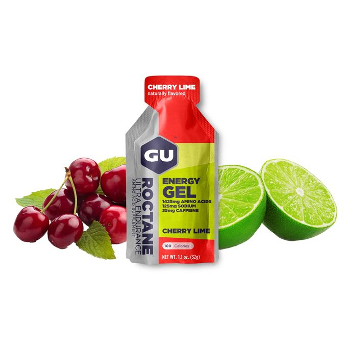 GU Roctane Energy Gel 32 g Cherry/Lime 1 SÁČEK (balení 24ks)