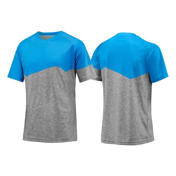 GIANT Transcend SS Jersey-blue/heather grey-XL