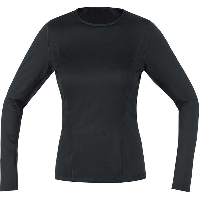 GORE M Women Base Layer Long Sleeve Shirt-black-38