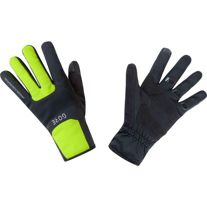 GORE M WS Thermo Gloves-black/neon yellow-7