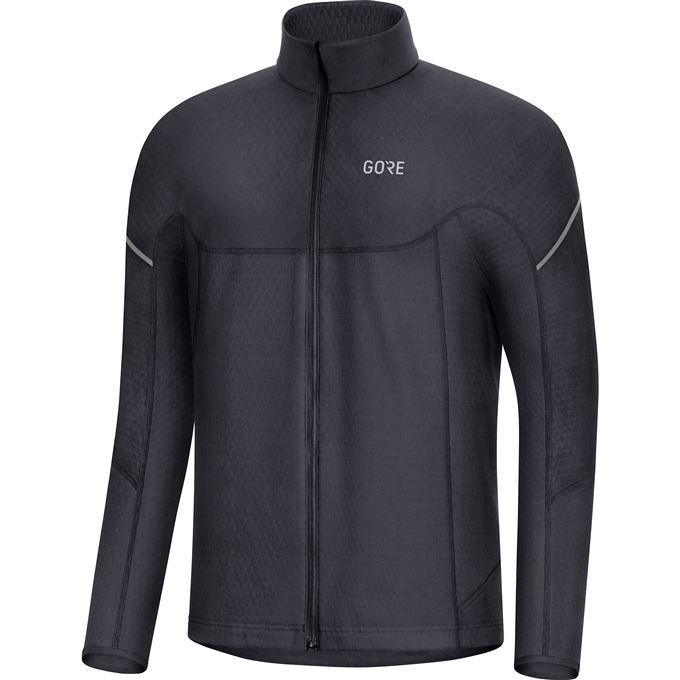 GORE M Thermo Long Sleeve Zip Shirt-black-XL