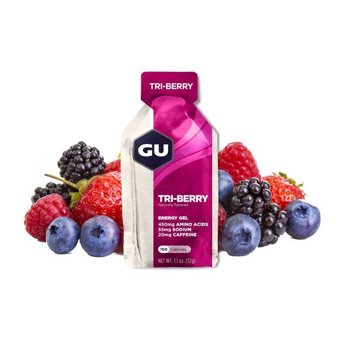 GU Energy 32 g Gel-tri berry 1 SÁČEK (balení 24ks)