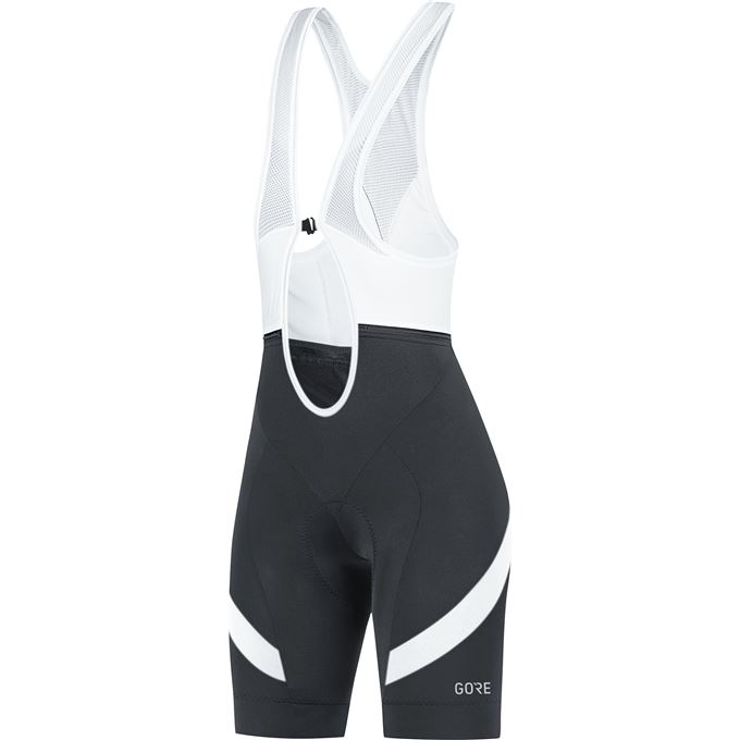 GORE C5 Women Bib Shorts+-black/white-40