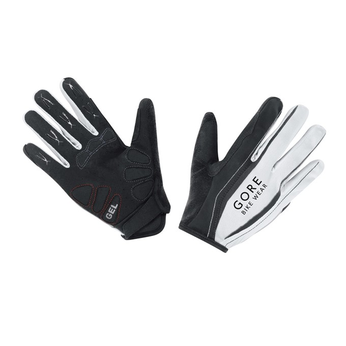 GORE Power Long Gloves-black/white-10