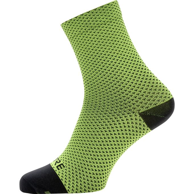 GORE C3 Dot Mid Socks-neon yellow/black-41/43