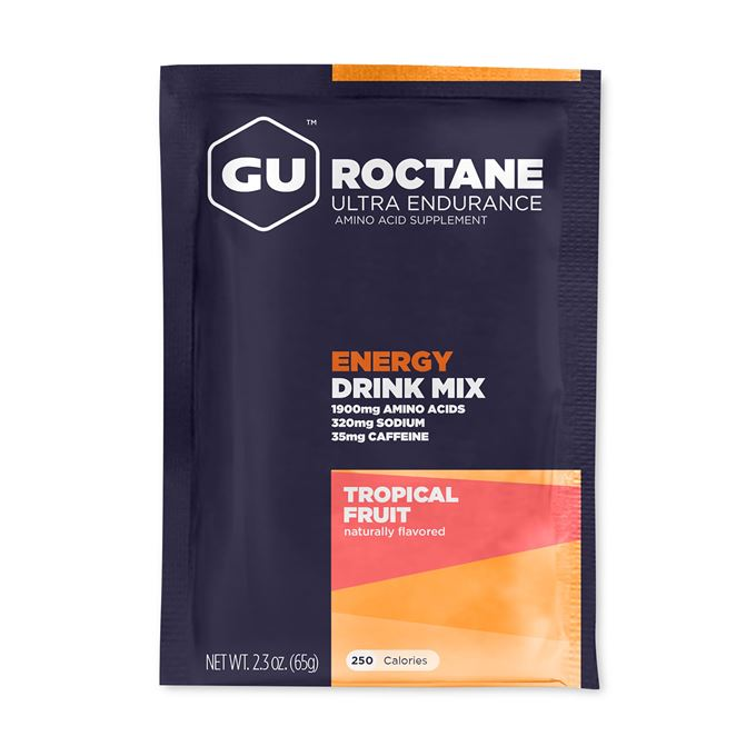 Výprodej-GU Roctane Drink 65 g - Tropical Fruit 1 SÁČEK (balení 10ks)