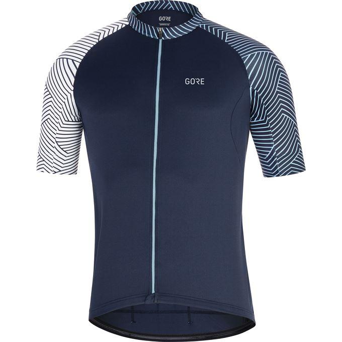 GORE C5 Optiline Jersey-marine blue/white-XL