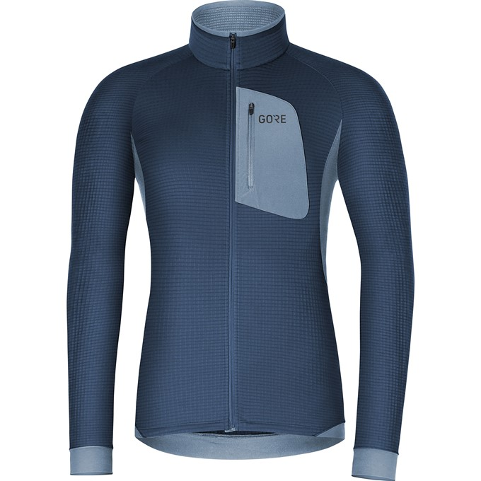 GORE M Thermo Shirt-deep water blue/cloudy blue-M
