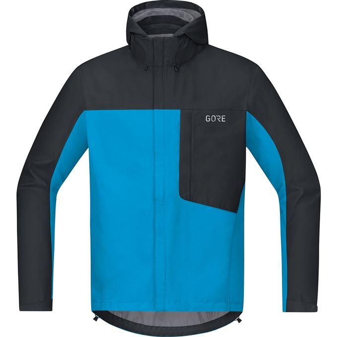 GORE C3 GTX Paclite Hooded Jacket-dynamic cyan/black-L