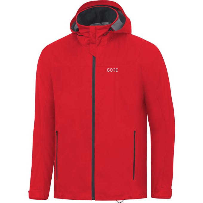 GORE R3 GTX Active Hooded Jacket-red-M