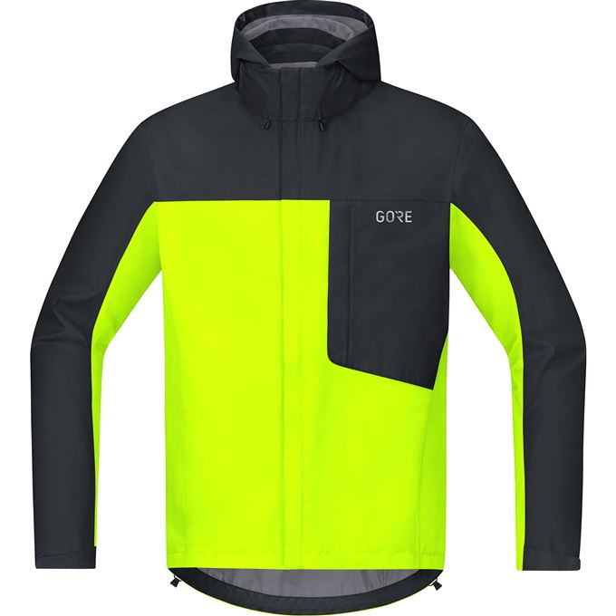 GORE C3 GTX Paclite Hooded Jacket-neon yellow/black-S