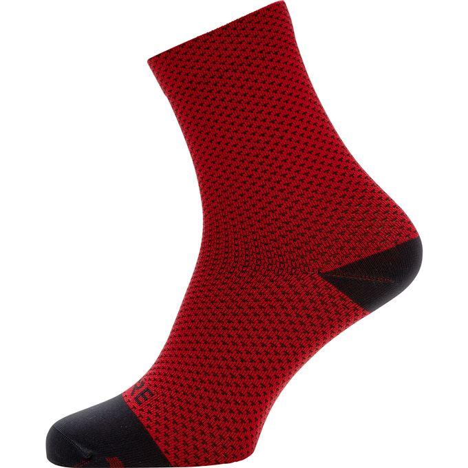 GORE C3 Dot Mid Socks-red/black-35/37
