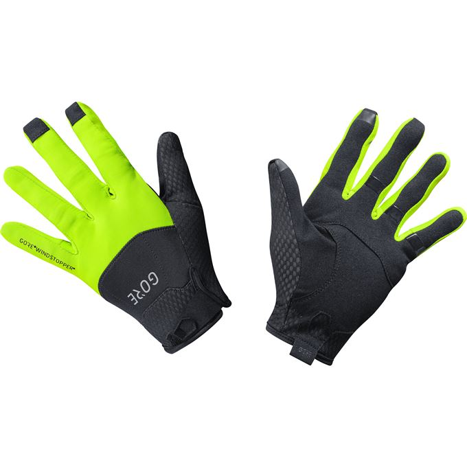 GORE C5 WS Gloves-black/neon yellow-9
