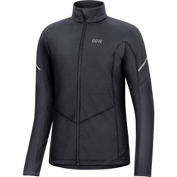 GORE M Women Thermo Long Sleeve Zip Shirt-black-42