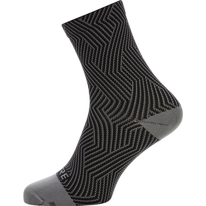 GORE C3 Optiline Mid Socks-graphite grey/black-41/43