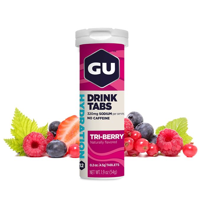 GU Hydration Drink Tabs 54 g - Triberry 1 tuba (balení 8ks)
