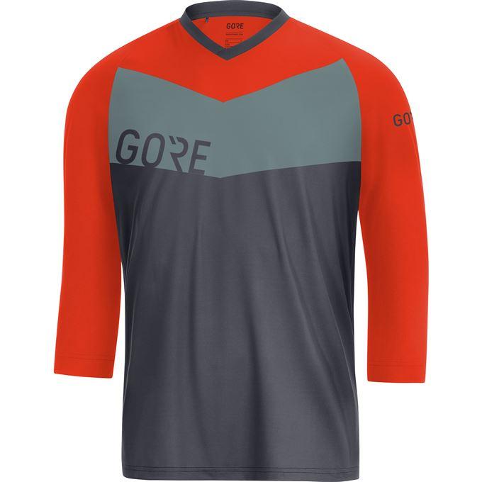 GORE C5 All Mountain 3/4 Jersey-terra grey/orange.com-L