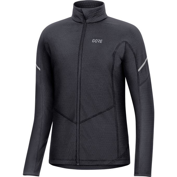 GORE M Women Thermo Long Sleeve Zip Shirt-black-40