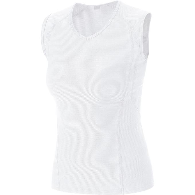 GORE M Women Base Layer Sleeveless Shirt-white-34