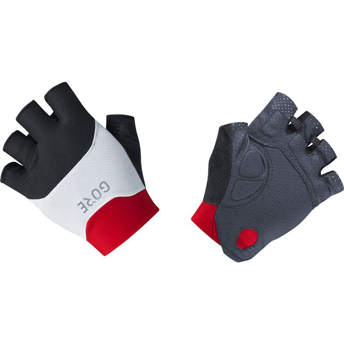 GORE C5 Short Finger Vent Gloves-black/red-10