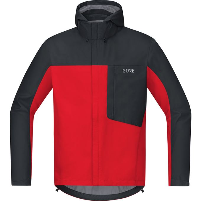 GORE C3 GTX Paclite Hooded Jacket-red/black-L