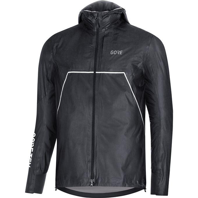 GORE R7 GTX Shakedry Trail Hooded Jacket-black-M