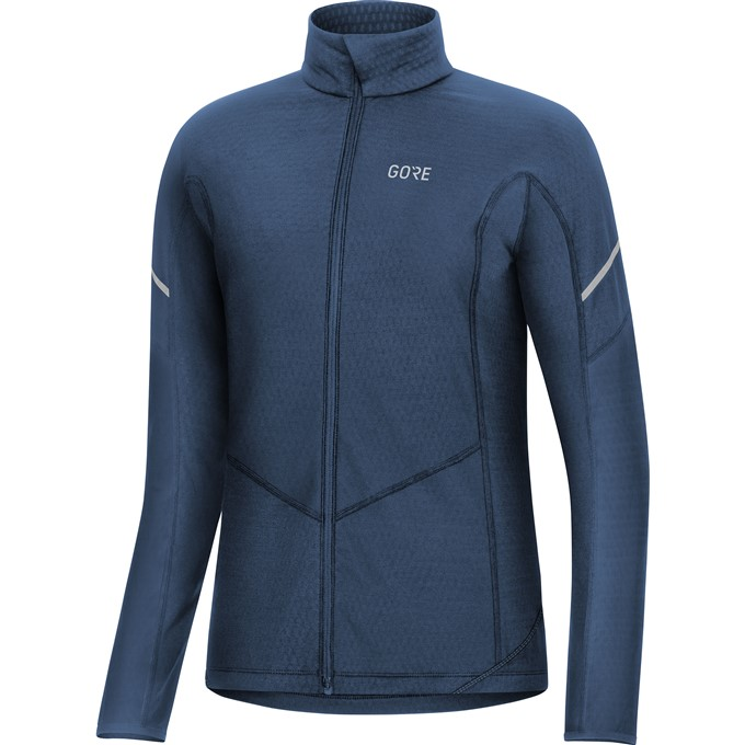 GORE M Women Thermo Long Sleeve Zip Shirt-deep water blue-40