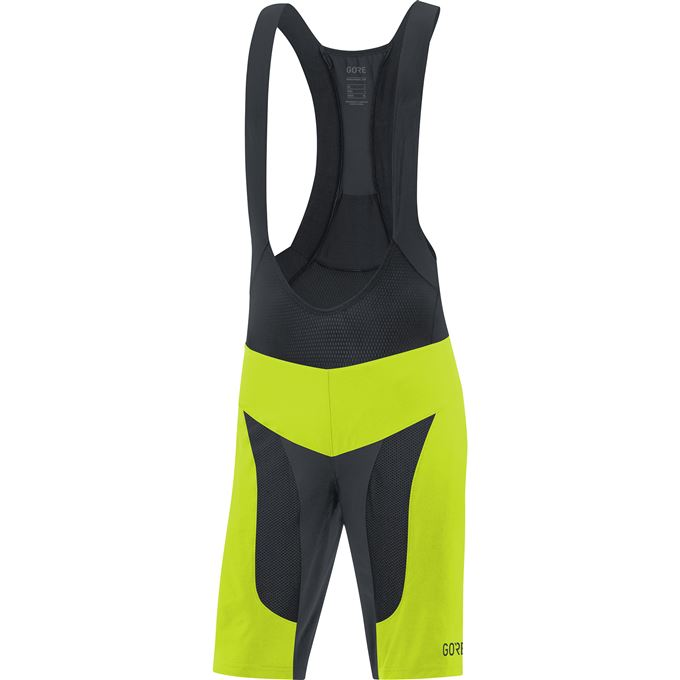 GORE C7 Pro 2in1 Bib Shorts+-citrus green/black-XXL