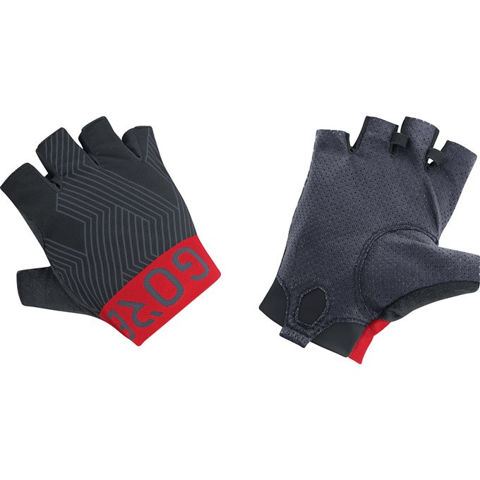 GORE C7 Short Finger Pro Gloves-black/red-7