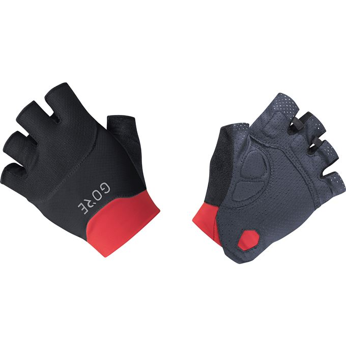 GORE C5 Short Finger Vent Gloves-black/hibiscus pink-6