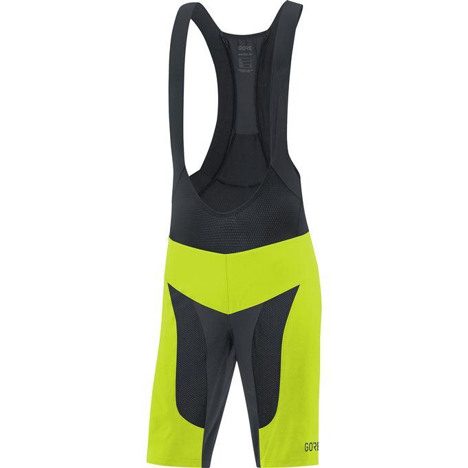 GORE C7 Pro 2in1 Bib Shorts+-citrus green/black-XL