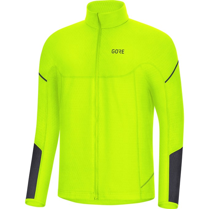 GORE M Thermo Long Sleeve Zip Shirt-neon yellow/black-M