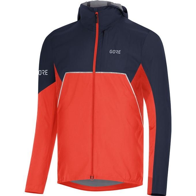 GORE R7 Partial GTX Infinium Hooded Jacket-fireball/orbit-S