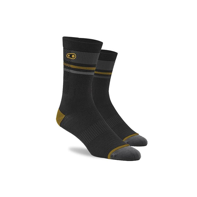CRANKBROTHERS Icon MTB Sock-black/gold/grey L/XL