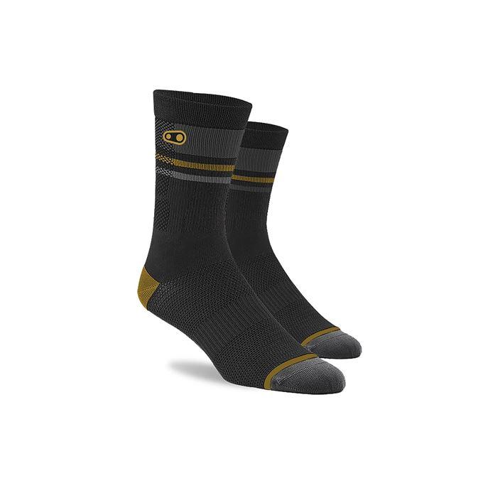 CRANKBROTHERS Icon MTB Sock-black/gold/grey S/M