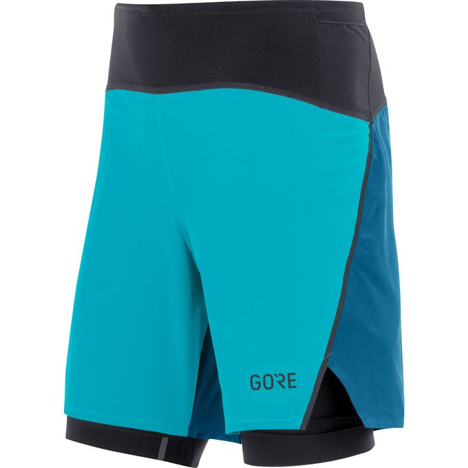 GORE R7 2in1 Shorts-scuba blue/sphere blue-M
