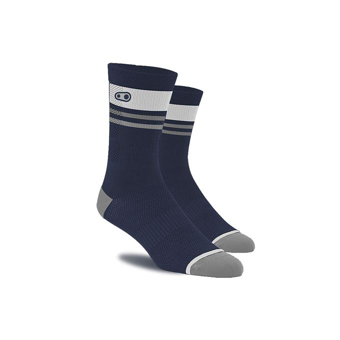 CRANKBROTHERS Icon MTB Sock-navy blue/white L/XL