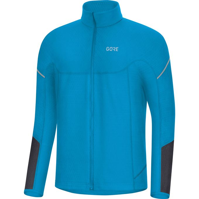 GORE M Thermo Long Sleeve Zip Shirt-dynamic cyan/black-M