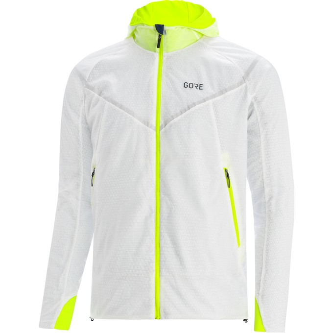 GORE R5 GTX Infinium Insulated Jacket-white/neon yellow-L
