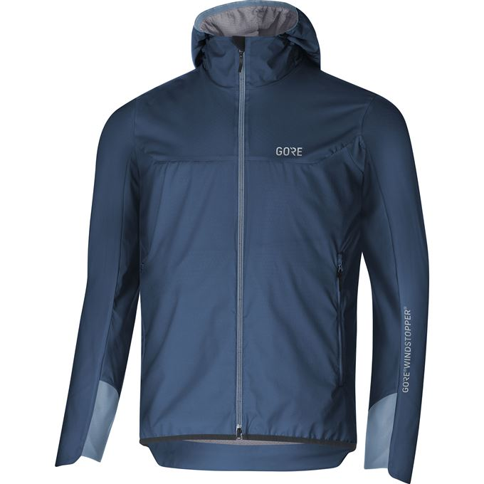 GORE H5 WS Insulated Hooded Jacket-deep water blue/cloudy blue-XL